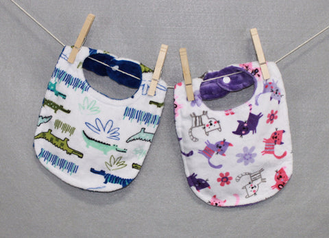 Minky Chenille Animal Fun Bib