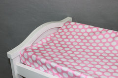Minky Chenille Mod Dot Changing Pad Cover