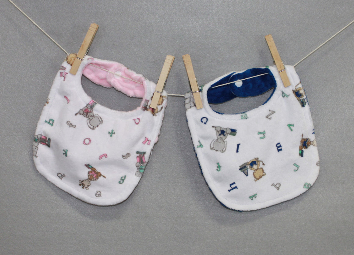 Minky Chenille Big Reader Bib