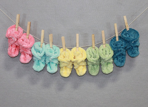 Limited Edition Minky Chenille Booties