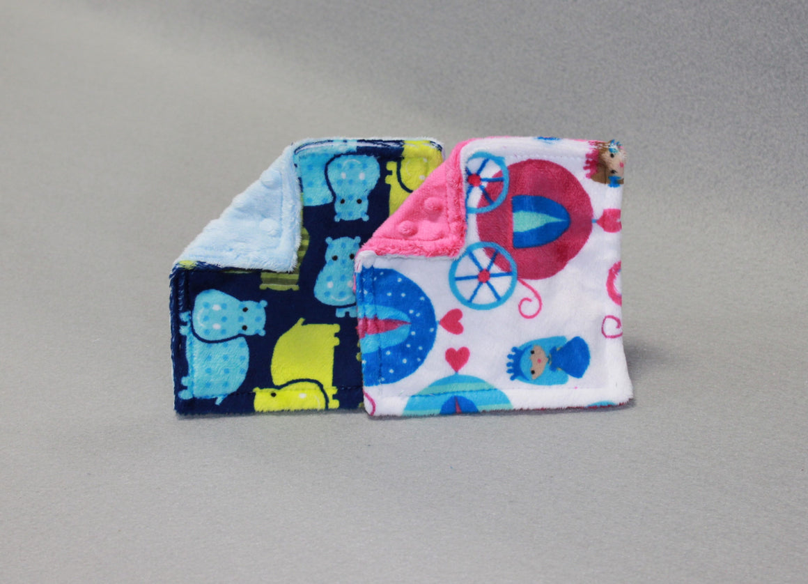 Minky Chenille Printed Crinkle Toy