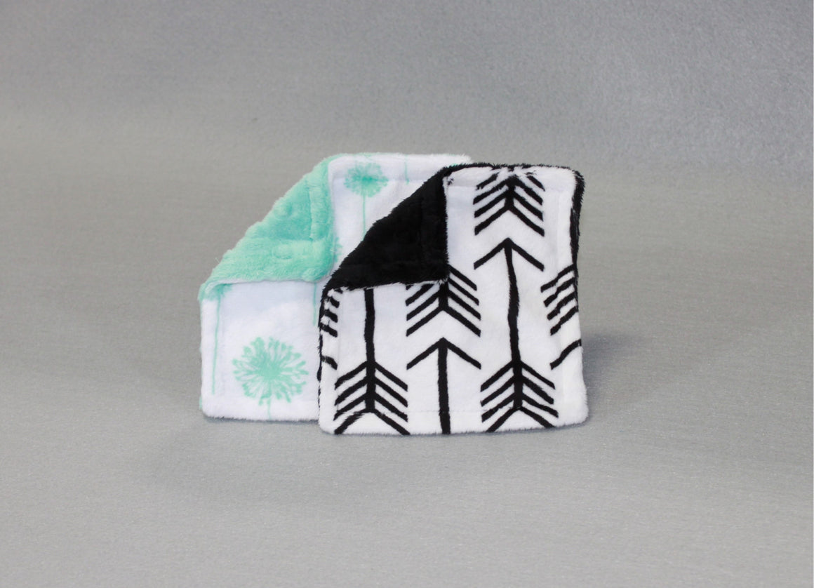 Minky Chenille Modern Print Crinkle Toy