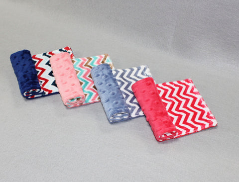 Minky Chenille Mini Chevron Strap Covers