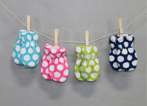 Minky Chenille Double Dots Infant Mittens