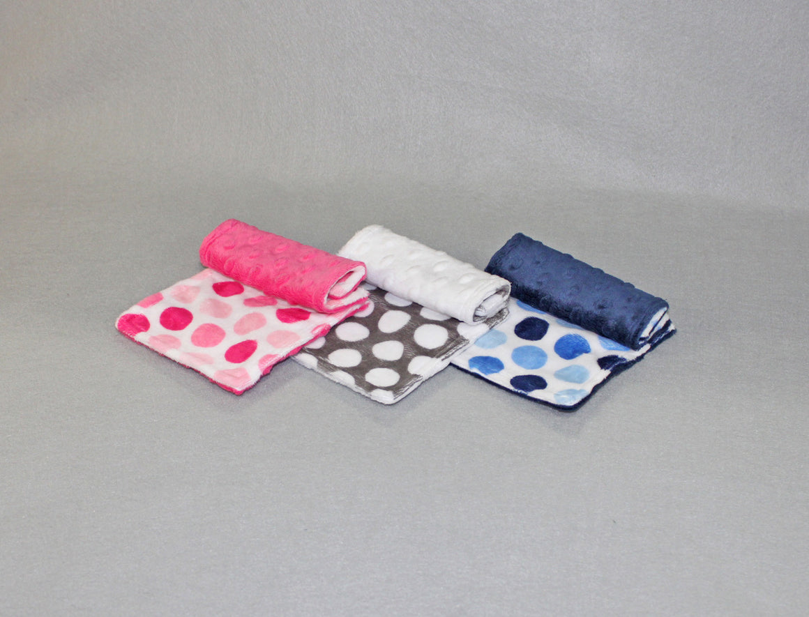 Minky Chenille Mod Dot Strap Covers