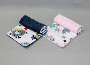 Minky Chenille Colorful Characters Strap Covers