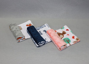 Minky Chenille Playtime Prints Strap Covers