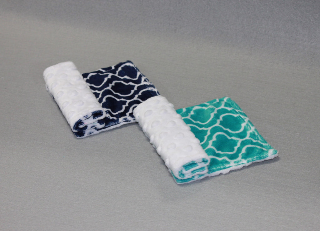 Minky Chenille Trellis Strap Covers