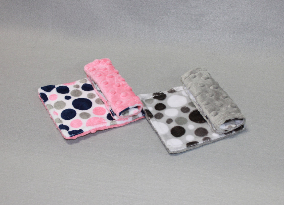 Minky Chenille Bubble Dot Strap Covers