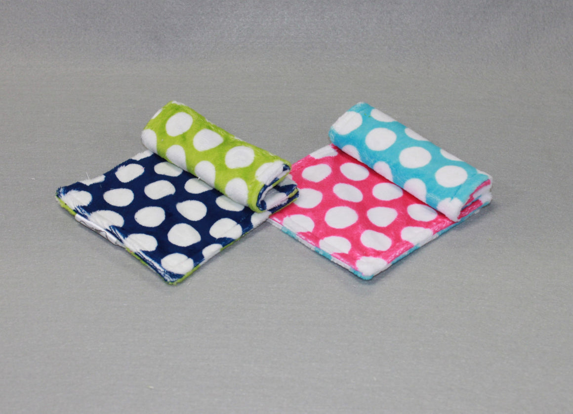 Minky Chenille Double Dots Strap Covers