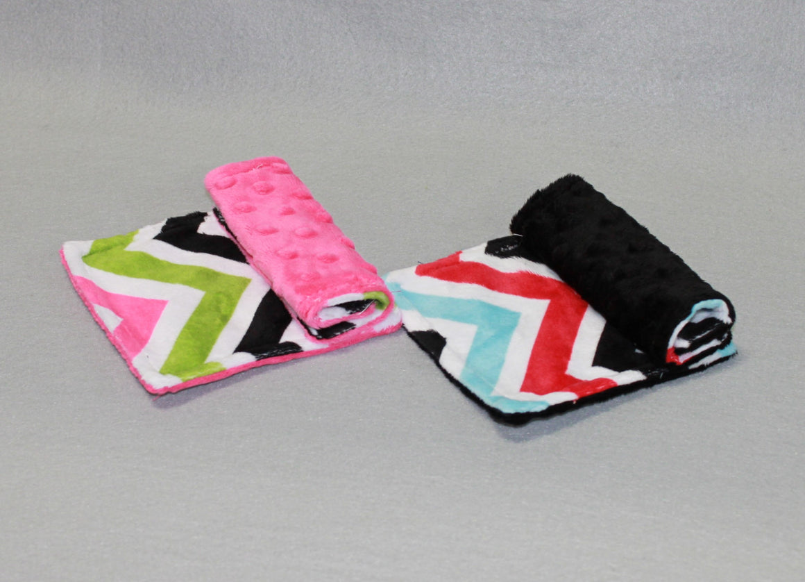 Minky Chenille Multi Chevron Strap Covers