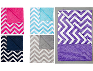 Minky Chenille Chevron Solid Strap Covers