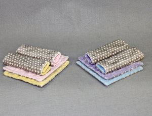 Minky Chenille Gray Swiss Dot Strap Covers