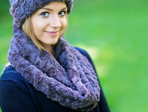 Women's Soft Cuddle Fur Twist Scarf