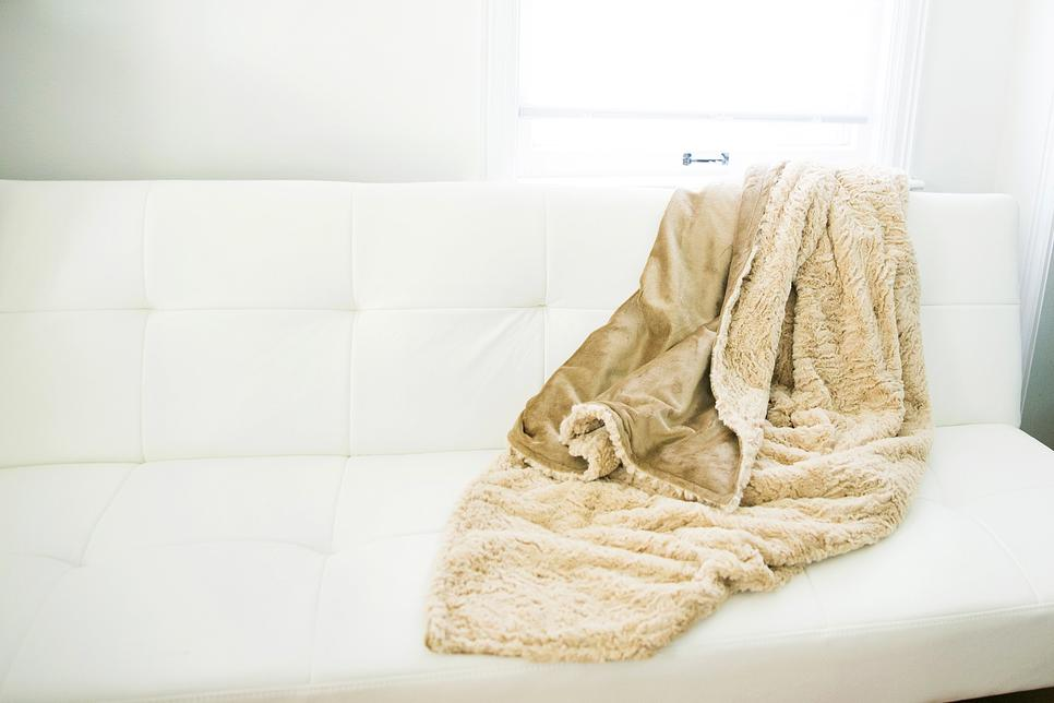 Minky Chenille/Faux Fur Adult Throw