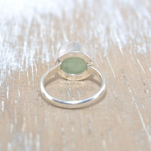 Load image into Gallery viewer, Sea glass ring in sterling silver (R243)