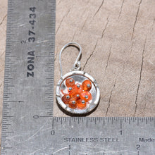Load image into Gallery viewer, Sea glass and honey onyx dangle earrings in sterling silver (E405)