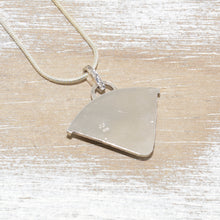 Load image into Gallery viewer, Seaglass pendant necklace in mixed metals of sterling silver and copper (N438)