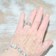 Load image into Gallery viewer, Sterling silver ring with a green amethyst (R639)