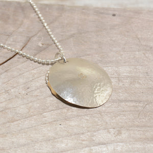 Sterling silver and 14k gold fill necklace (N654)
