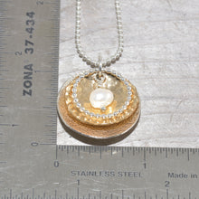 Load image into Gallery viewer, Sterling silver and 14k gold fill necklace (N654)