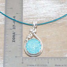 Load image into Gallery viewer, Dichroic glass necklace in a hand crafted setting of sterling silver. (N678)