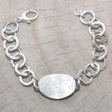 "Load image into Gallery viewer, Boho sterling silver ""Joy is in the Journey"" link bracelet (B695)"