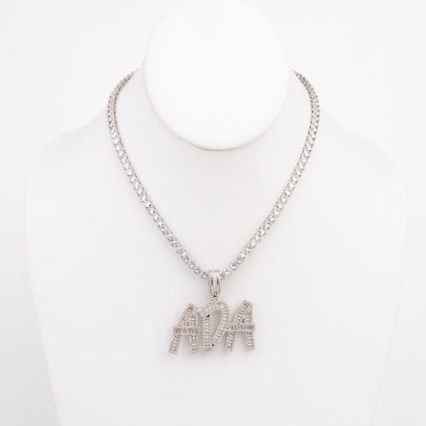 Diamond Custom Name Plate Necklace