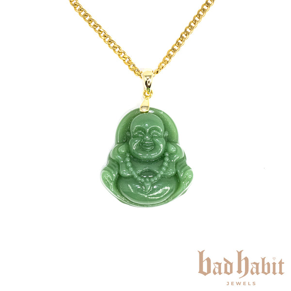 Dark Jade Buddha Necklace