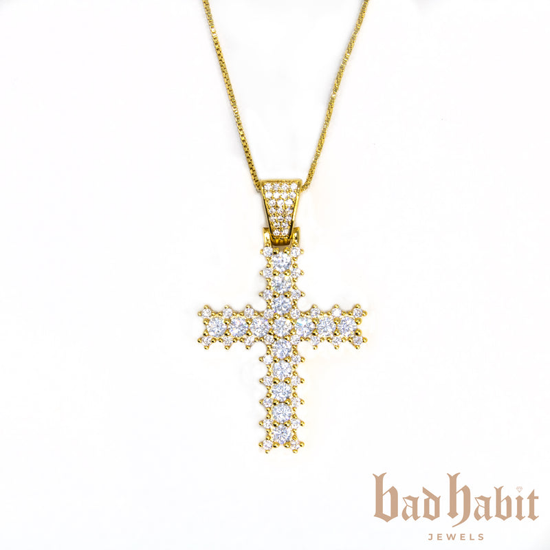 Diamond Gold Cross Necklace
