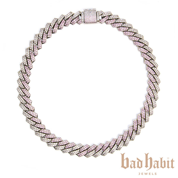 Two Tone Diamond Cuban Necklace