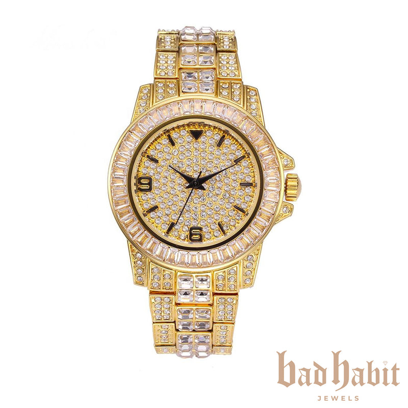 Icy Gold Diamond Watch