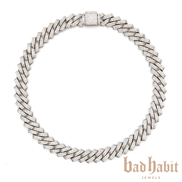 Thick Cuban Link Silver Necklace