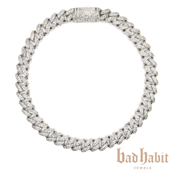 Chunky Icy Silver Miami Cuban Necklace