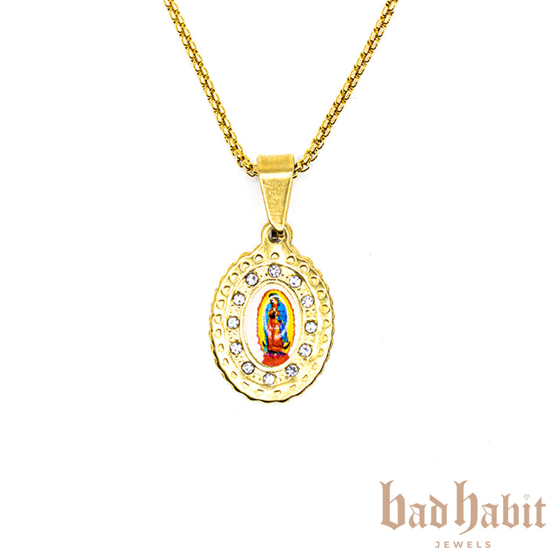 Mother Mary Praying Necklace