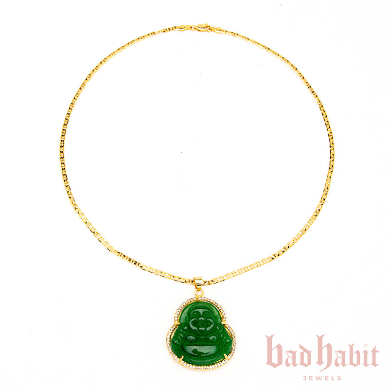 Rhinestone Buddha Necklace