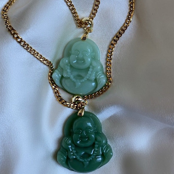 Light Green Buddha Necklace