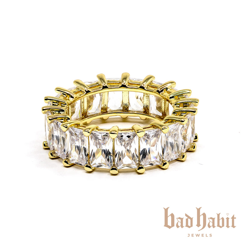 Baguette Gold Diamond Ring