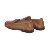 Brown Leather Slip-On Shoes - SaintG India