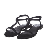 Women Black Open Toe Flats - SaintG India