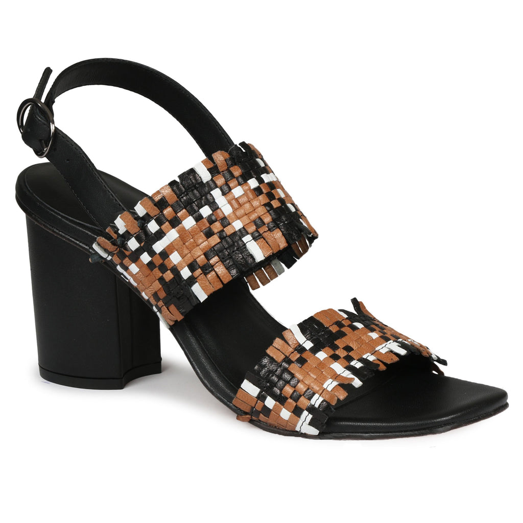 Saint Bibiana Multi Woven Leather Heels - SaintG India