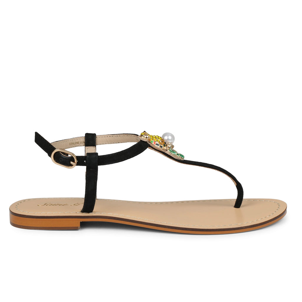 Saint Joelene  T- Srap  Leather Flat. - SaintG India