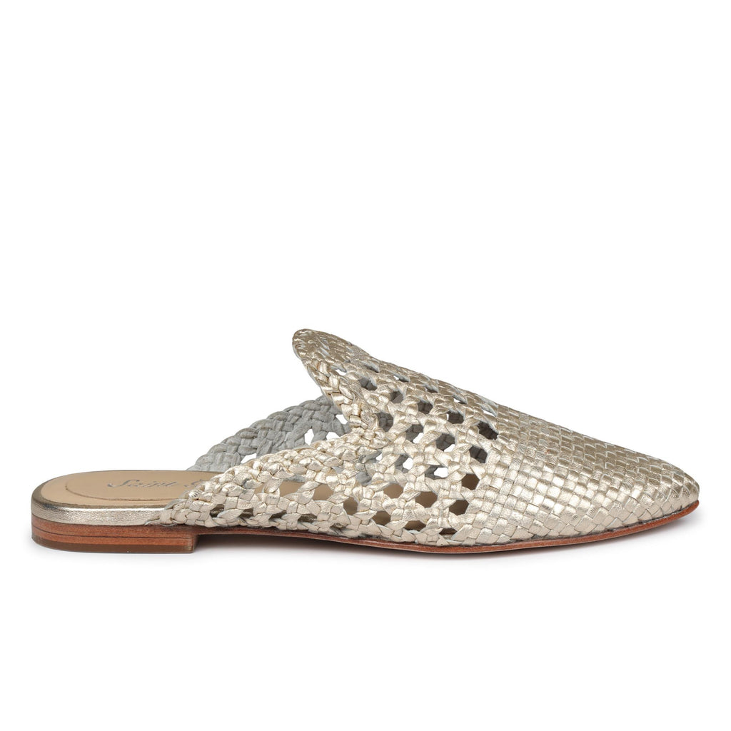 Saint Messy Woven Leather Flats Mules. - SaintG India