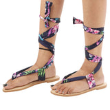 Saint Rose Multi Color Tie Up Flats - SaintG India