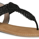 Saint Nicholas Black Leather Flats - SaintG India