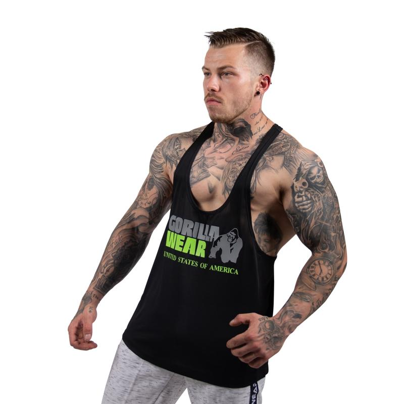 Nashville Tank Top -Black/NeonLime