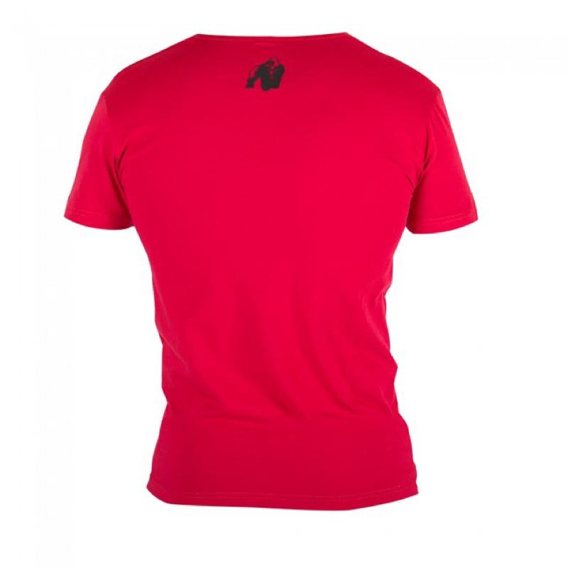 Essential V- Neck T-Shirt -Red