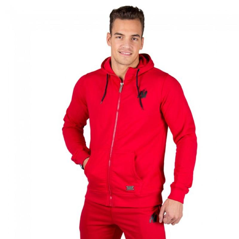 Classic Zipped Hoodie - Red
