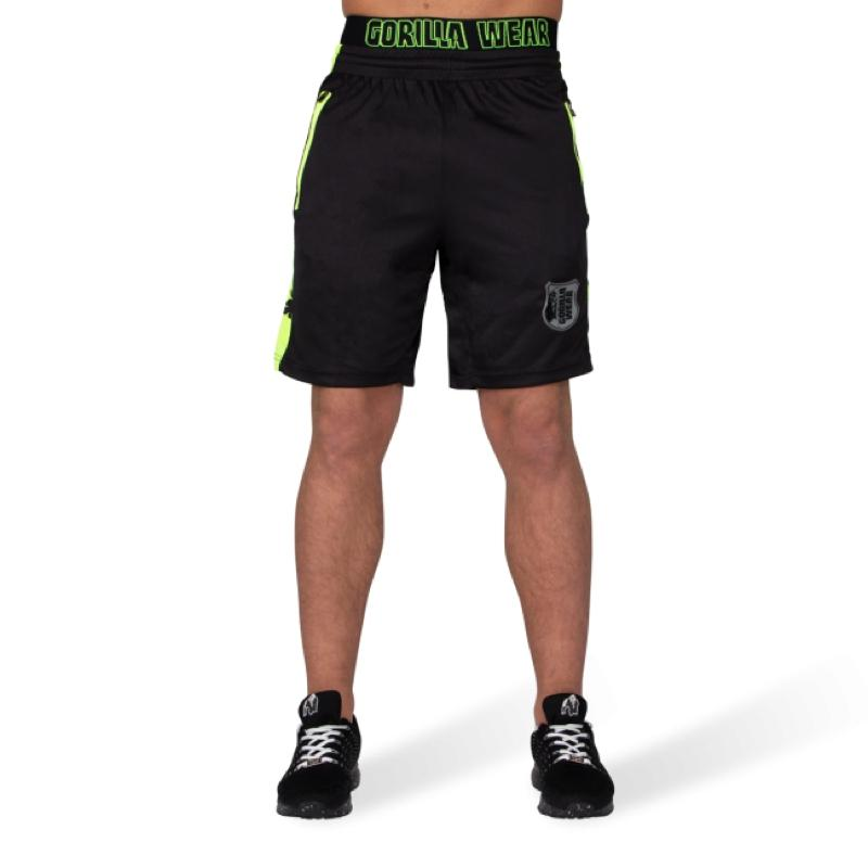 Shelby Shorts - Black/Neon Lime