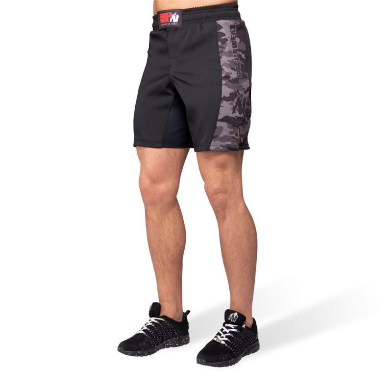 KENSINGTON MMA FIGHTSHORTS - BLACK/GRAY CAMO